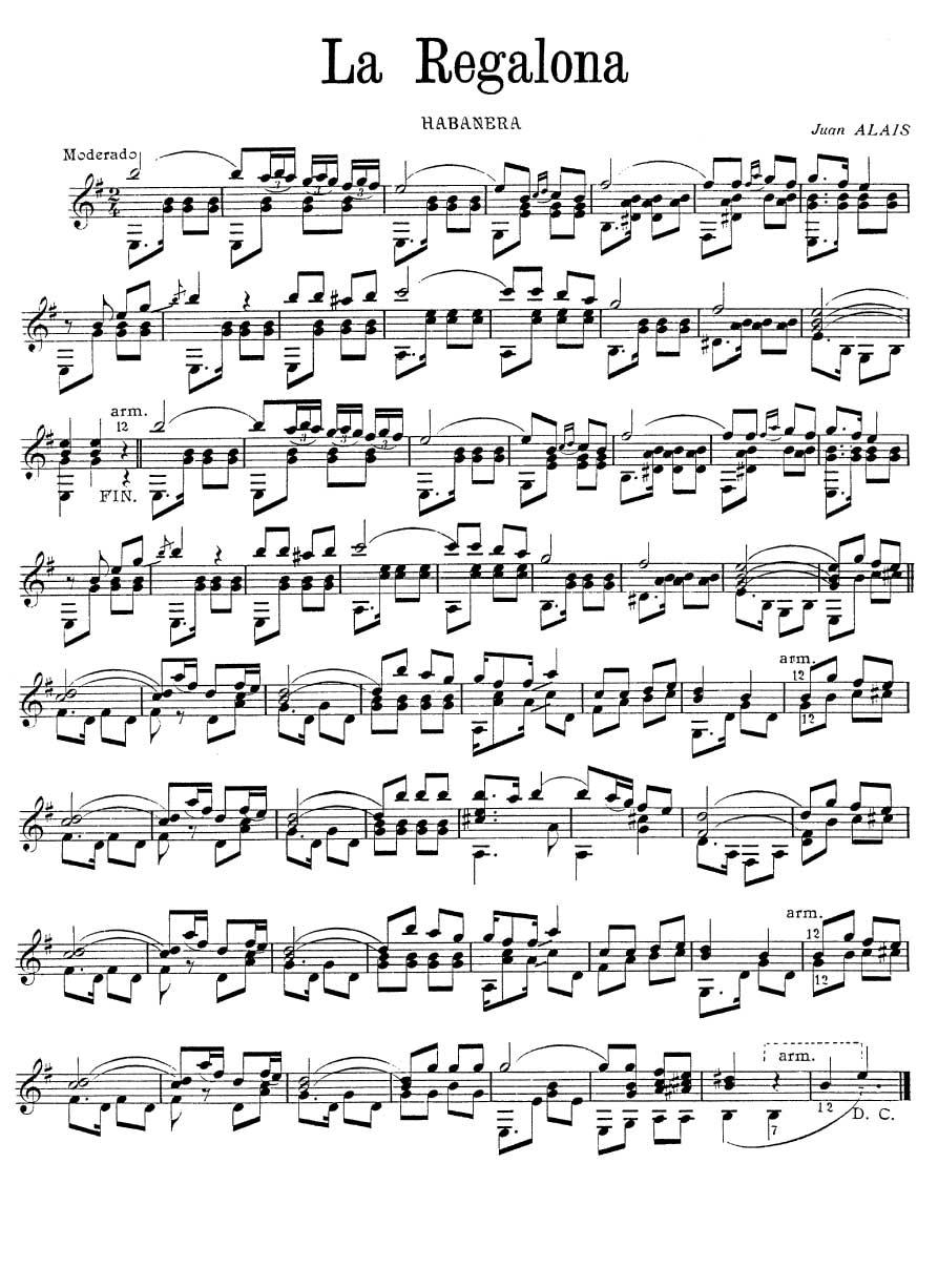 serenata espanola tarrega pdf tabs